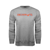 Grey Fleece Crew-Bearkats