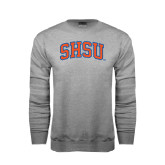 Grey Fleece Crew-Arched SHSU
