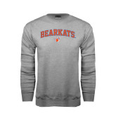 Grey Fleece Crew-Arched Bearkats w/Paw