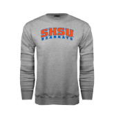 Grey Fleece Crew-Arched SHSU Bearkats