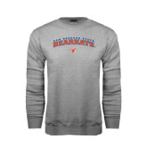 Grey Fleece Crew-Arched Sam Houston State Bearkats w/Paw