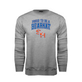 Grey Fleece Crew-Proud To Be A Bearkat Arched