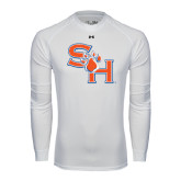 Under Armour White Long Sleeve Tech Tee-SH Paw Official Logo