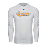 Under Armour White Long Sleeve Tech Tee-Softball Lady Design