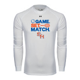 Under Armour White Long Sleeve Tech Tee-Tennis Game Set Match