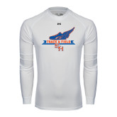 Under Armour White Long Sleeve Tech Tee-Track and Field Side Design