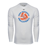 Under Armour White Long Sleeve Tech Tee-Volleyball Stars Design