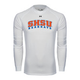 Under Armour White Long Sleeve Tech Tee-Arched SHSU Bearkats