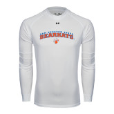 Under Armour White Long Sleeve Tech Tee-Arched Sam Houston State Bearkats w/Paw