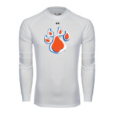 Under Armour White Long Sleeve Tech Tee-Paw