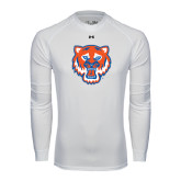 Under Armour White Long Sleeve Tech Tee-Bearkat Head