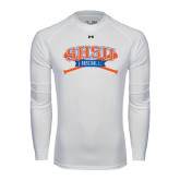 Under Armour White Long Sleeve Tech Tee-Baseball Bats