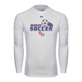 Under Armour White Long Sleeve Tech Tee-Soccer Swoosh
