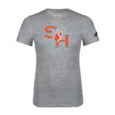 Adidas Sport Grey Logo T Shirt-SH Paw Official Logo