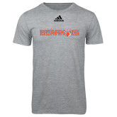 Adidas Sport Grey Logo T Shirt-Sam Houston Bearkats