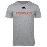 Adidas Sport Grey Logo T Shirt-Sam Houston Bearkats
