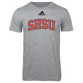 Adidas Sport Grey Logo T Shirt-Arched SHSU