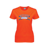 Ladies Orange T Shirt-Baseball Bats