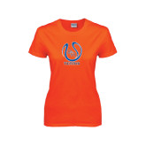 Ladies Orange T Shirt-Tennis Ball
