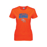 Ladies Orange T Shirt-Proud To Be A Bearkat Arched
