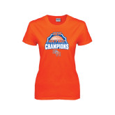 Ladies Orange T Shirt-Mens Golf Champions