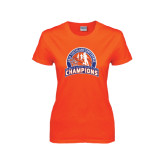 Ladies Orange T Shirt-Womens Indoor Track and Field Champions