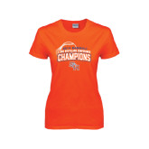 Ladies Orange T Shirt-Southland Conference Baseball Champions - Arched Version