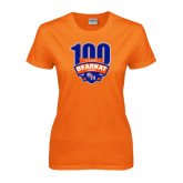 Ladies Orange T Shirt-100th Football Season