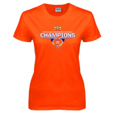 Ladies Orange T Shirt-2016 Southland Conference Football Champions