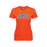 Ladies Orange T Shirt-Arched SHSU