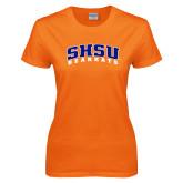 Ladies Orange T Shirt-Arched SHSU Bearkats