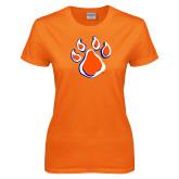 Ladies Orange T Shirt-Paw