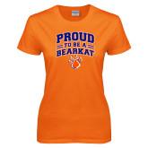 Ladies Orange T Shirt-Proud to be a Bearkat