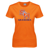Ladies Orange T Shirt-Grandma