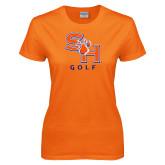 Ladies Orange T Shirt-Golf
