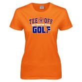 Ladies Orange T Shirt-Golf Tee Off