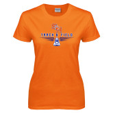 Ladies Orange T Shirt-Track and Field Design