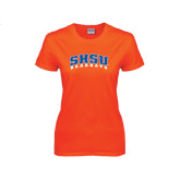 Ladies Orange T Shirt-Arched SHSU Bearkats