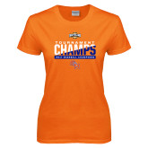 Ladies Orange T Shirt-2017 Southland Conference Baseball Champions
