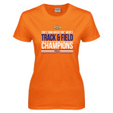 Ladies Orange T Shirt-2017 Southland Conference Mens Track and Field