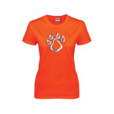 Ladies Orange T Shirt-Paw