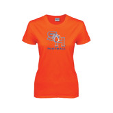 Ladies Orange T Shirt-Football