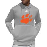 Adidas Grey Team Issue Hoodie-Secondary Athletics Mark