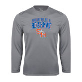 Syntrel Performance Steel Longsleeve Shirt-Proud To Be A Bearkat Arched
