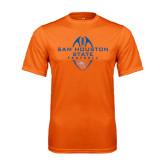 Performance Orange Tee-Tall Football Design