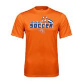 Performance Orange Tee-Soccer Swoosh
