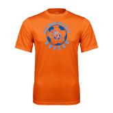 Performance Orange Tee-Soccer Circle