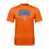 Performance Orange Tee-Proud To Be A Bearkat Arched