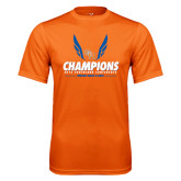 Performance Orange Tee-2016 Southland Conference Champions Indoor Track & Field