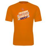 Performance Orange Tee-Friends Dont Let Friends Wear Purple